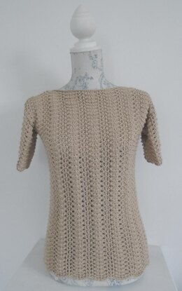 Linen and Lace Tee Sweater