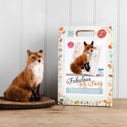 The Crafty Kit Company Fabulous Mr Foxy Needle Felting Kit - 190 x 290 x 94mm