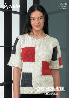 Square Block Tunic in Wendy Quasar Chunky - 5730