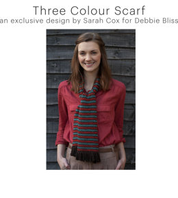 Three Colour Scarf in Debbie Bliss Cashmerino Aran