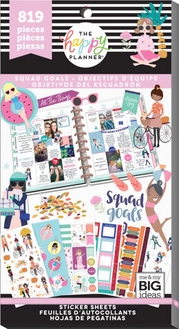 Me & My Big Ideas Happy Planner Sticker Value Pack - Squad Goals, 819/Pkg