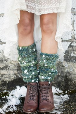 Chelsea Morning Legwarmers in Knit Collage Daisy Chain