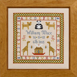 Historical Sampler Company Two by Two Birth Sampler Cross Stitch Kit