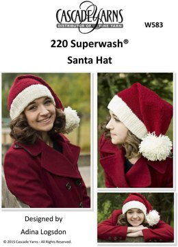Santa Hat in Cascade 220 Superwash - W583