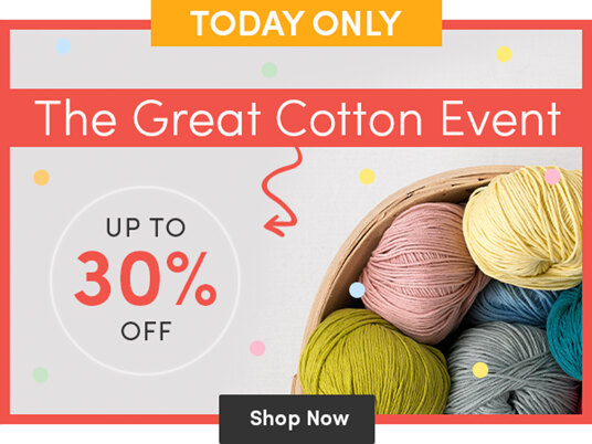 The Great Cotton Event - up to 30 percent off!