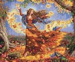 Dimensions Fall Fairy Cross Stitch Kit - 36cm x 30cm