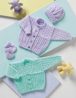 Cardigans, Hat & Mittens in Stylecraft Wondersoft DK - 8117
