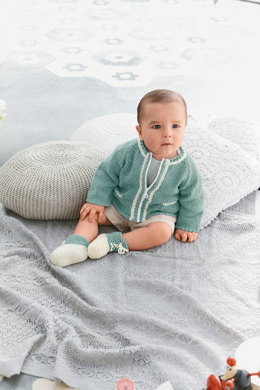 Cardigan and Bootees in Bergere de France Sonora - 23 - Downloadable PDF