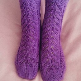 The Garden Leaves Lace Socks
