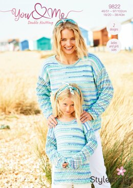 Sweater & Cardigan in Stylecraft You & Me - 9822 - Downloadable PDF