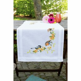 Vervaco Embroidery Table Runner Kit - Songbirds