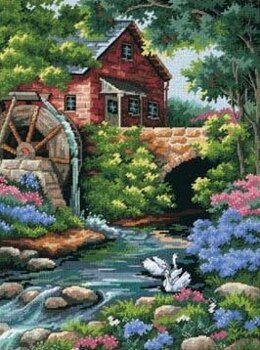 Dimensions Old Mill Cottage Tapestry Kit - 30 x 41 cm