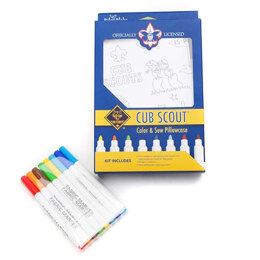 Riley Blake Cubs Scouts Color Me Pillowcase Kit
