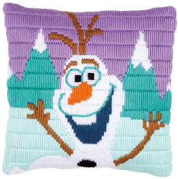 Vervaco Olaf Frozen Long Stitch Cushion Kit
