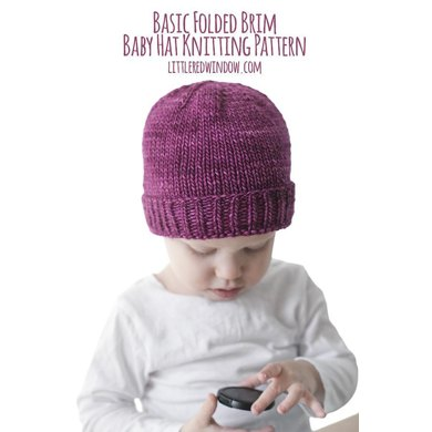 Easy Folded Brim Baby Hat Knitting Pattern By Cassandra May