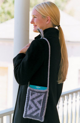 Felted Mini Tote Pattern in Imperial Yarn Native Twist - P113 (Downloadable PDF)