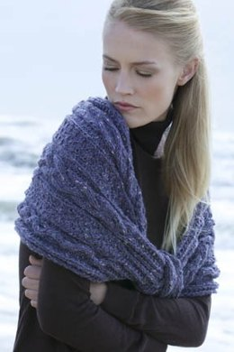 Amagansett Cabled Shawl in Tahki Yarns Donegal Tweed