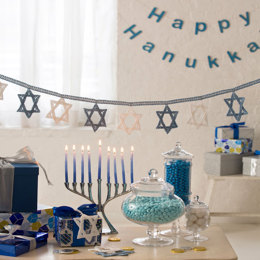 Hanukkah Banner in Aunt Lydia's Classic Crochet Thread Size 10 Solids - LC4344