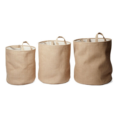 Groves Hessian Nested Circular Storage Boxes (3 pcs)