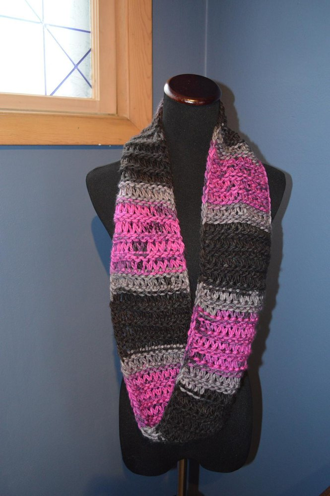 Charismatic Mobius Infinity Scarf Loom Knitting pattern by Joanna ...