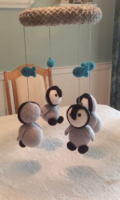Baby Penguins Mobile