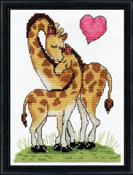 Design Works Giraffe Love Counted Cross Stitch Kit - 5in x 7in