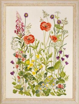 Permin Meadow Flowers Cross Stitch Kit - 33cm x 45cm