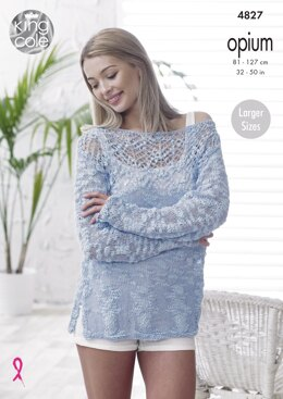 Sweater & Top in King Cole Opium - 4827