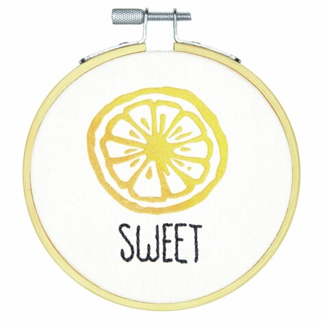 Dimensions Sweet Crewel Embroidery Kit with Hoop - 4in (10cm)