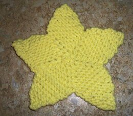 Easy Knit Star Coaster