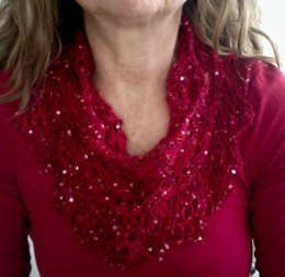 Home for the Holidays Cowl in Artyarns Beaded Mohair and Sequins