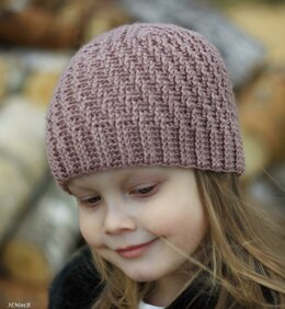 Crochet striped hat