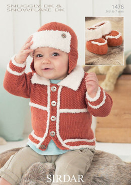 Jacket, Hat and Booties in Snuggly DK and Snowflake DK - 1476
