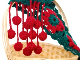 Jingle Bells Christmas Scarf PDF Crochet Pattern