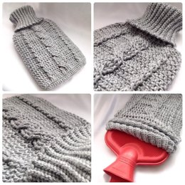 Cozy Cable Hot Water Bottle Cover
