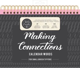 "American Crafts Kelly Creates Small Brush Workbook 11.6""X10"" 138/Pkg - Connections/Calendar"
