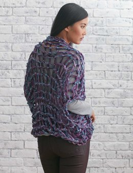 Arm Knit Shrug in Bernat Bargello