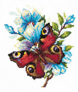Magic Needle Peacock Butterfly Cross Stitch Kit