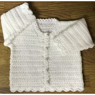 Easy Round Neck Crochet Cardigan Pattern For Baby Or Child Crochet