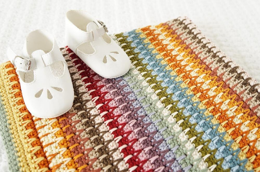 Retro Baby Blanket Crochet Pattern By Little Doolally Crochet