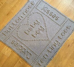 Button Nose Baby Boy or Baby Girl Blanket Crochet Pattern