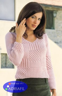 Queen Pullover in Adriafil Jumping - Downloadable PDF