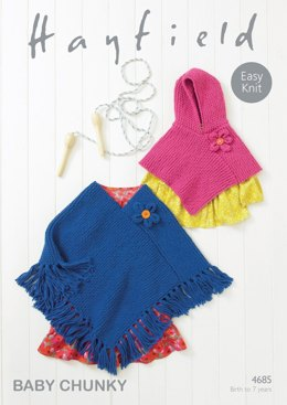 Ponchos in Hayfield Baby Chunky - 4685- Downloadable PDF
