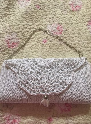 Shinny Hand Bag Or Clutch Crochet Project By Marina Lovecrochet