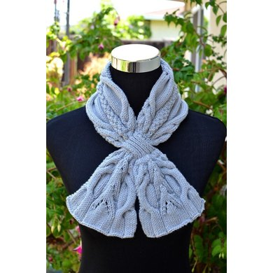 Urban Cables Scarf ( Keyhole / Ascot / Pull-Through / Vintage / Stay On / Cable Scarf Knitting Pattern )