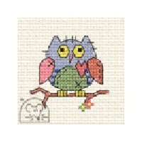 Mouseloft Stitchlets - Patchwork Owl Cross Stitch Kit