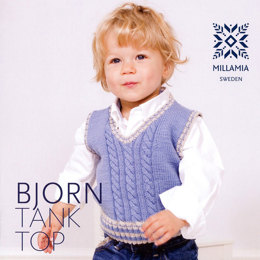 Boys' Bjorn Tank Top in MillaMia Merino Wool