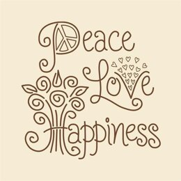 Janlynn Peace Love Happiness Emboidery Kit