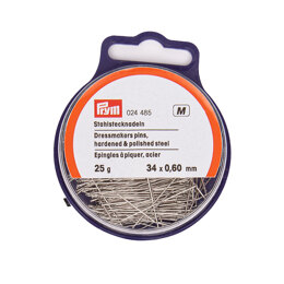 Prym Straight Pins 0.60 x 34 mm Silver Colour