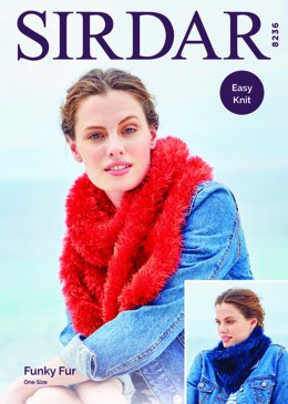 Woman's Accessories in Sirdar Funky Fur - 8236 - Downloadable PDF
